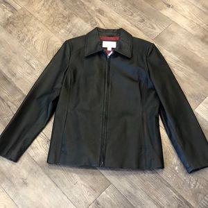 Black leather jacket! Petite Medium